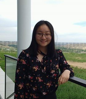 A picture of the President of the Lethbridge Team, Alice Zhang
